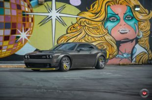 Widebody Dodge Challenger Hellcat Vossen HC 3 Alus Tuning 1 310x205 Widebody Dodge Challenger Hellcat on Vossen HC 3 Alus