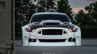 Widebody Ford Mustang GT clinched savini Airride 16 190x107 Black & White   Widebody Ford Mustang GT mit Airride