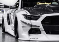 Widebody Ford Mustang GT clinched savini Airride 5 190x136 Black & White Widebody Ford Mustang GT mit Airride