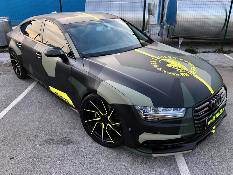 Audi A7 Performance Folierung camouflage Tuning 3 Neuer Look 2019   Audi A7 Performance von BB Folien