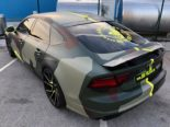 Audi A7 Performance Folierung camouflage Tuning 7 155x116 Neuer Look 2019   Audi A7 Performance von BB Folien