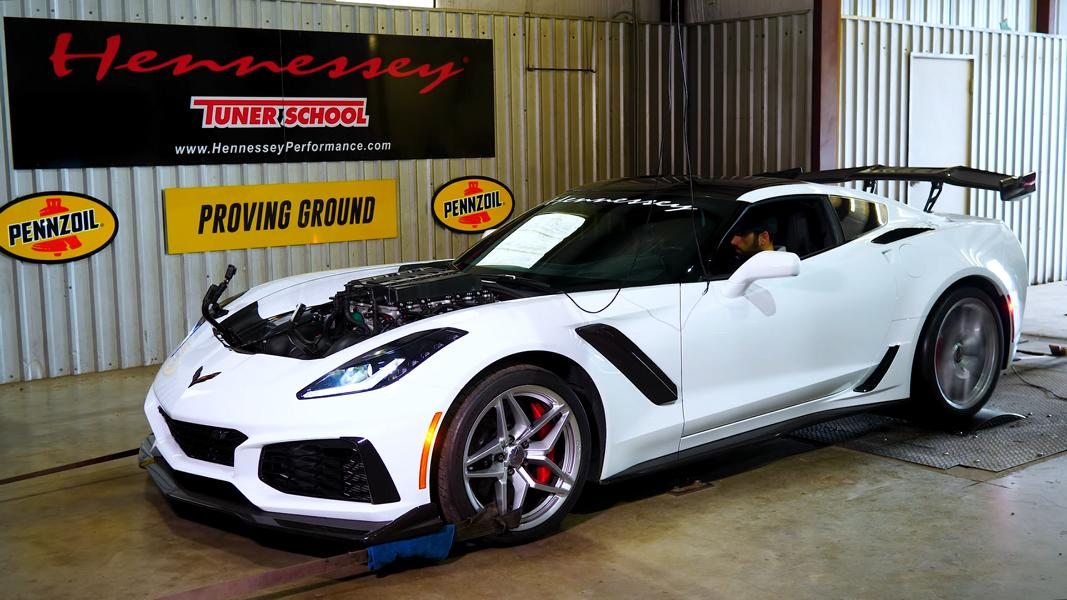 Hennessey Corvette ZR1 HPE1000 Tuning 2019 1 Video: Prüfstandslauf Hennessey Corvette ZR1 HPE1000