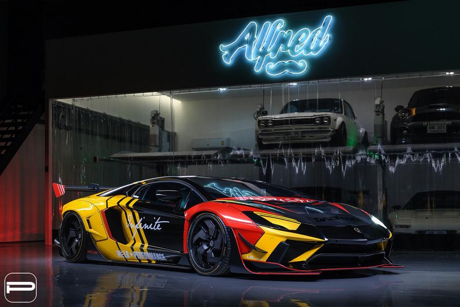 Lamborghini Aventador Liberty widebody PUR LX12.V12 Tuning 8 More is always Widebody kits from LibertyWalk