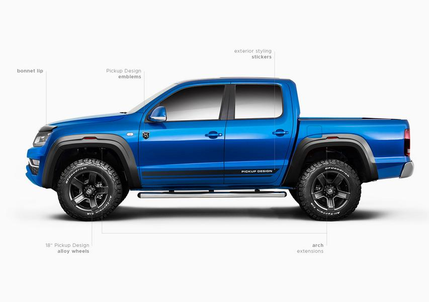 VW Amarok PRIME KIT Pickupdesign Carlex Tuning 3 Kleines Bodykit   VW Amarok PRIME KIT von Pickupdesign