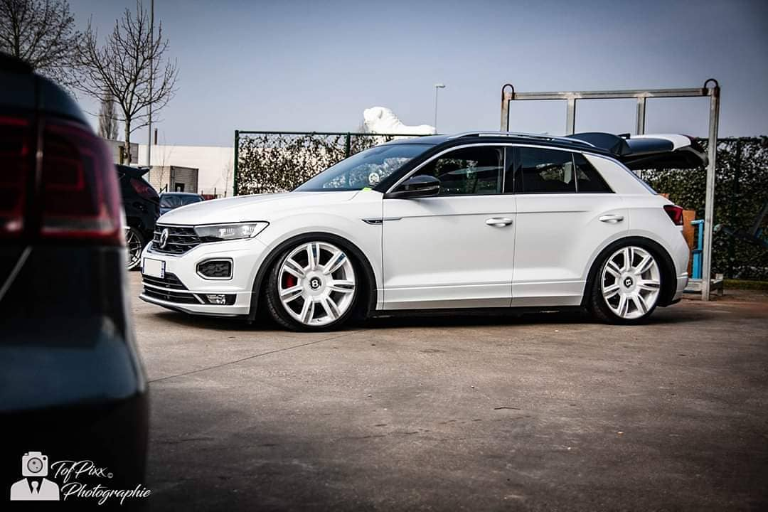 VW T Roc Airride Bentley Felgen Tuning 13 Air Roc: VW T Roc mit Airride Fahrwerk & Bentley Felgen