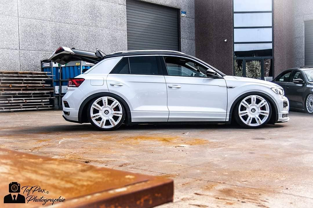 VW T Roc Airride Bentley Felgen Tuning 14 Air Roc: VW T Roc mit Airride Fahrwerk & Bentley Felgen