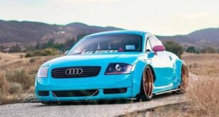 Clinched Widebody Audi TT 8N Hellblau Tuning 3 310x165 Unübersehbar   Clinched Widebody Audi TT in Hellblau