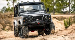 ECD Desert Storm Land Rover Defender Cabrio V8 Tuning e1559279848895 310x165 Military style: Land Rover Defender 110 von ECD Automotive