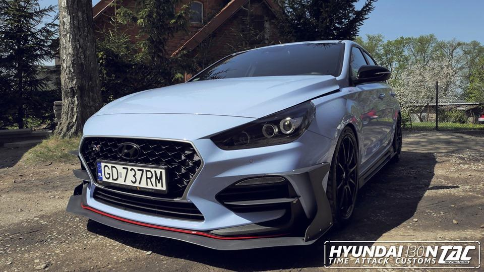 Hyundai i30N vom Time Attack Customs TAC Bodykit 1 Canards / Side Wings / Side Flaps   beflügeltes Tuning