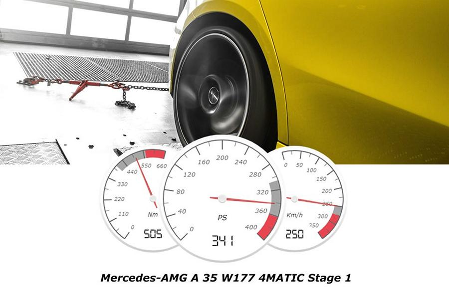 Mercedes AMG A 35 4MATIC W177 Chiptuning 4 Mercedes AMG A 35 4MATIC (W177) mit 376 PS & 505 NM