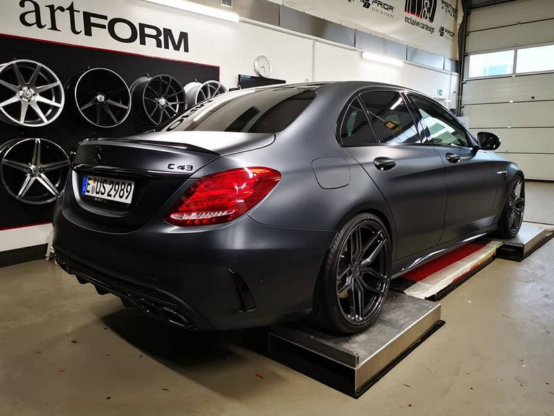 440 PS Mercedes C43 AMG from M & D on ZP2 1 rims