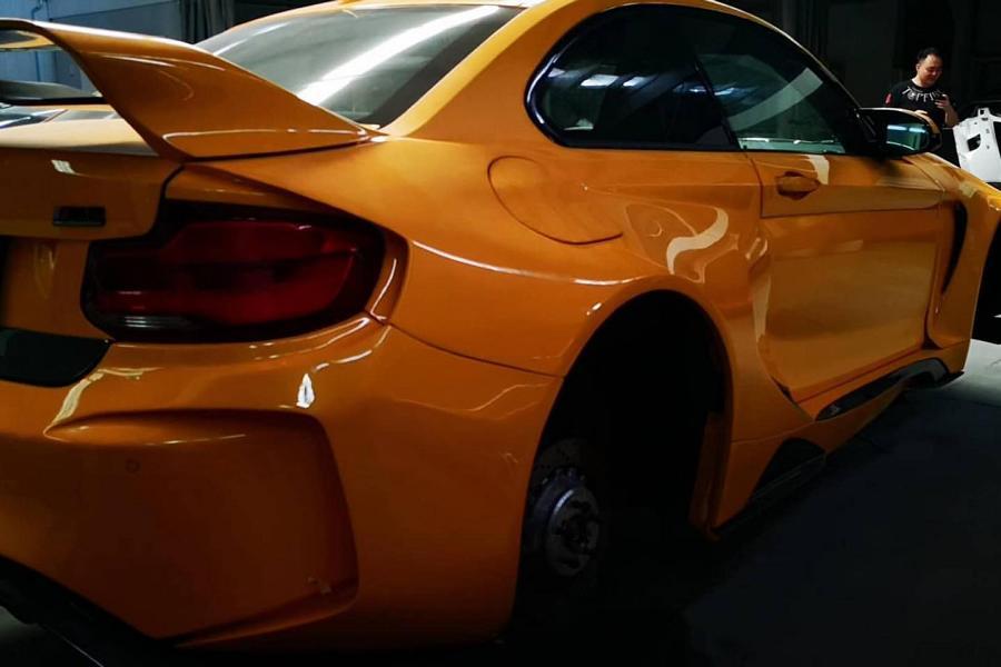 Orange Pumpkin Widebody BMW F87 M2 Competition VGT Darwin Pro Haube Tuning 2 Orange Pumpkin: Widebody BMW M2 Competition VGT