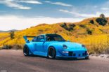 RWB Widebody Porsche 993 Turbo Riviera Blue Forgestar Tuning 10 155x103 Heftig: RWB Widebody Porsche 993 Turbo in Riviera Blue