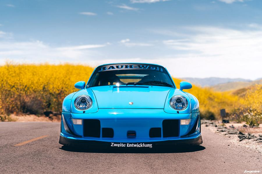 RWB Widebody Porsche 993 Turbo Riviera Blue Forgestar Tuning 11 Heftig: RWB Widebody Porsche 993 Turbo in Riviera Blue