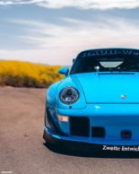 RWB Widebody Porsche 993 Turbo Riviera Blue Forgestar Tuning 16 155x194 Heftig: RWB Widebody Porsche 993 Turbo in Riviera Blue