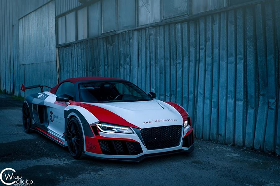 SR66 Design Audi R8 Spyder Widebody Kit Tuning 18 Sharp R8   SR66 Design Audi R8 Spyder mit Widebody Kit