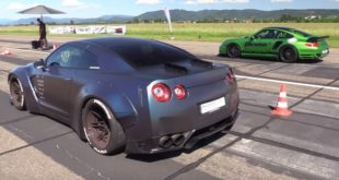1.200 PS Porsche 9ff Turbo R vs. Liberty Nissan GT R 310x165 Video: 2JZ Supra Triebwerk im Mercedes Benz G63 AMG