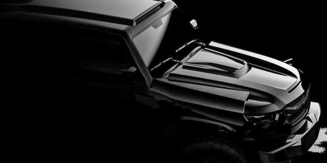 Everything different: teaser of the 2020 Rezvani tank with 1.000 PS