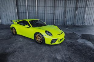 ADV5.0 Alus Porsche 911 GT3 Acid Green Tuning 17 310x205 Golden ADV5.0 Alus on the Porsche 911 GT3 in Acid Green