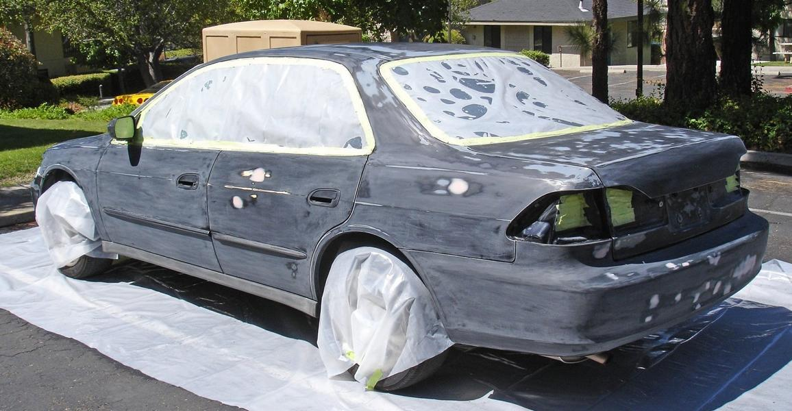 Auto Roll Paint Brush Tuning 2 For a small budget, paint the car with the roller
