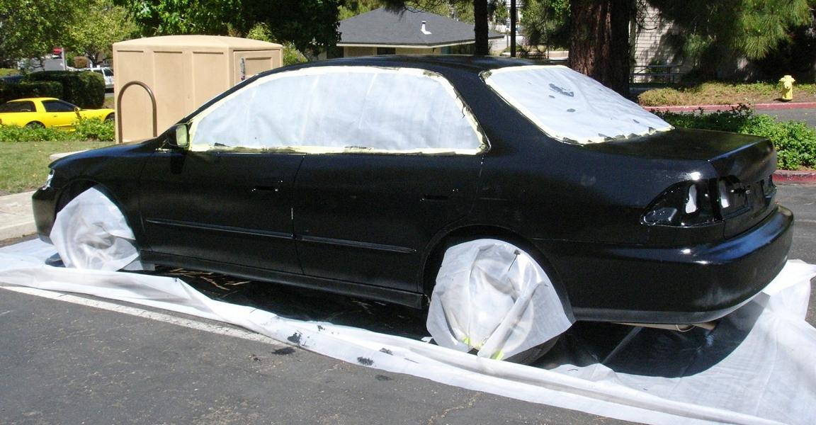 Auto Roll Paint Brush Tuning 3 For a small budget, paint the car with the roller