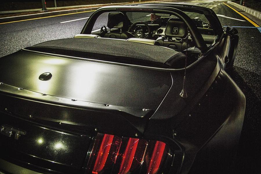 Clinched Widebody Ford Mustang GT Cabrio 10 Widebody Ford Mustang GT Cabrio (S550) mit Fahrradhalter