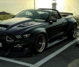 Clinched Widebody Ford Mustang GT Cabrio 17 155x132 Widebody Ford Mustang GT Cabrio (S550) mit Fahrradhalter