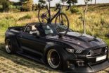 Clinched Widebody Ford Mustang GT Cabrio 2 155x103 Widebody Ford Mustang GT Cabrio (S550) mit Fahrradhalter