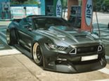 Clinched Widebody Ford Mustang GT Cabrio 31 155x116 Widebody Ford Mustang GT Cabrio (S550) mit Fahrradhalter