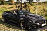 Clinched Widebody Ford Mustang GT Cabrio 35 155x103 Widebody Ford Mustang GT Cabrio (S550) mit Fahrradhalter