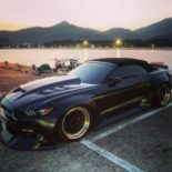 Clinched Widebody Ford Mustang GT Cabrio 40 155x155 Widebody Ford Mustang GT Cabrio (S550) mit Fahrradhalter