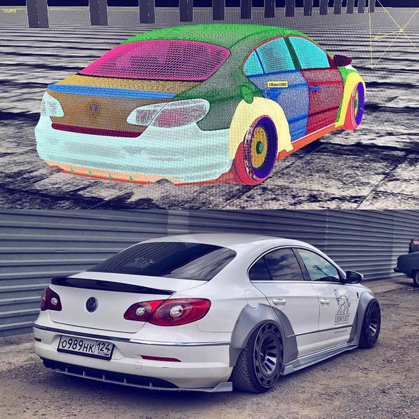 Lion's Kit Widebody Radi8 r8t12 VW Passat CC Tuning Airride 2 Top! Widebody Kit & Radi8 Alufelgen am VW Passat CC