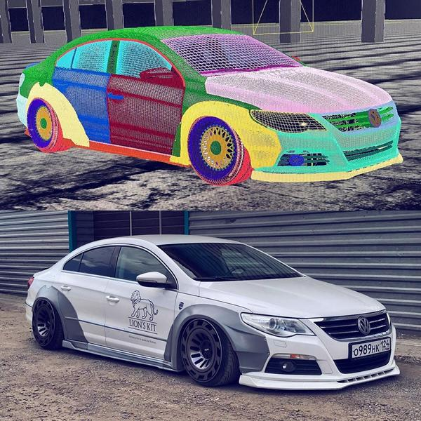 Lion's Kit Widebody Radi8 r8t12 VW Passat CC Tuning Airride 3 Top! Widebody Kit & Radi8 Alufelgen am VW Passat CC