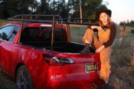 Tesla Model 3 Truckla E Pickup Tuning 10 190x126 Video: Selfmade   Tesla Model 3 Truckla E Pickup