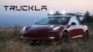 Tesla Model 3 Truckla E Pickup Tuning 11 190x107 Video: Selfmade   Tesla Model 3 Truckla E Pickup