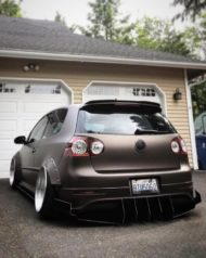 VW Golf 5 MKV Clinched Widebody Tuning 17 190x238 Fett: VW Golf 5 (MKV) mit Clinched Widebody Aufsätzen