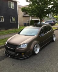 VW Golf 5 MKV Clinched Widebody Tuning 19 190x238 Fett: VW Golf 5 (MKV) mit Clinched Widebody Aufsätzen