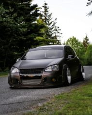 VW Golf 5 MKV Clinched Widebody Tuning 24 190x238 Fett: VW Golf 5 (MKV) mit Clinched Widebody Aufsätzen