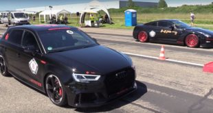 Audi RS3 Sportback vs. 720 PS Nissan GT R 310x165 Video: 680 PS Audi RS3 Sportback vs. 720 PS Nissan GT R