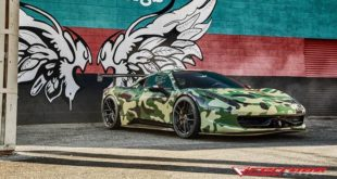 Camouflage Ferrari 458 Italia Ferrada USF03 Tuning 310x165 Video: 900 HP C3 Corvette vs. 1000 HP Switzer Nissan GT R