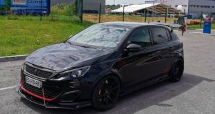Heckflügel Widebody Peugeot 308 GTi Tuning 2 310x165 Video: Heftiger Heckflügel am Widebody Peugeot 308 GTi