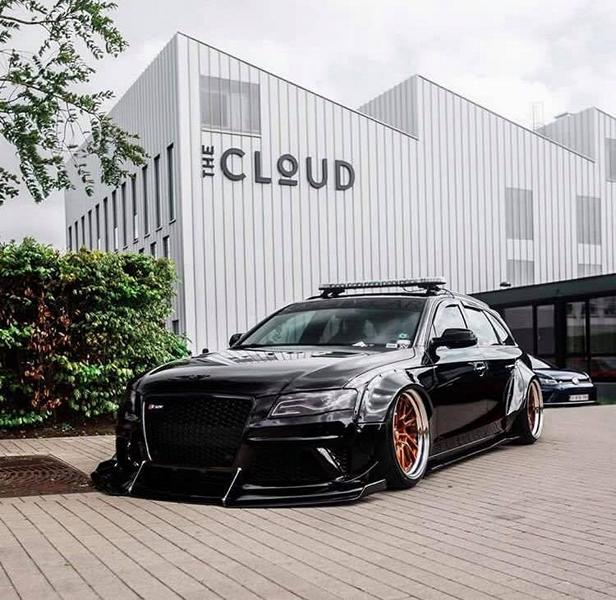Kean Suspensions Audi A4 Avant B8 Widebody ANRKY Tuning 4 Kean Suspensions Audi A4 Avant Widebody auf ANRKY Wheels