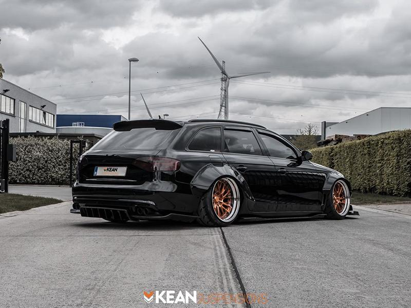 Kean Suspensions Audi A4 Avant B8 Widebody ANRKY Tuning 7 Kean Suspensions Audi A4 Avant Widebody auf ANRKY Wheels