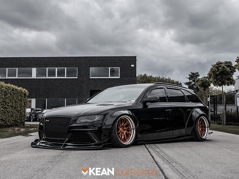 Kean Suspensions Audi A4 Avant B8 Widebody ANRKY Tuning 8 Kean Suspensions Audi A4 Avant Widebody auf ANRKY Wheels