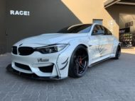 Liberty Walk Widebody BMW M4 F82 Vossen Brembo Tuning 16 190x143 Liberty Walk Widebody BMW M4 F82 Coupe by RACE!