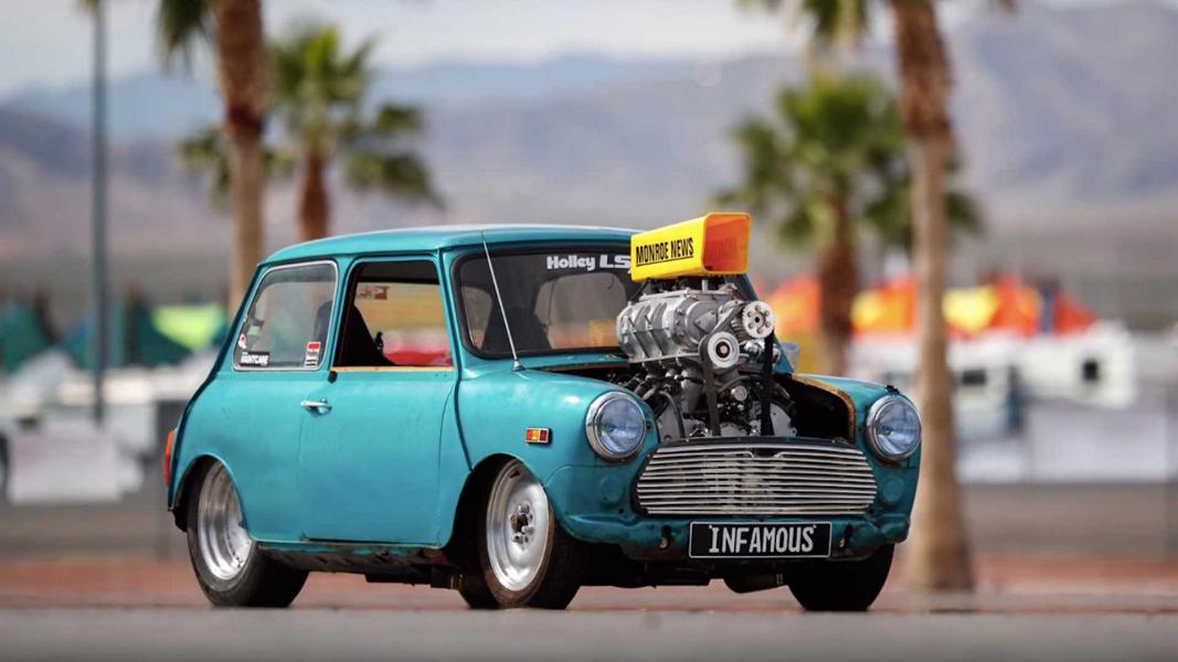 Mini Cooper LS V8 Kompressor Tuning 4 Video: Dieser Mini Cooper mit LS V8 Power hat 600 PS
