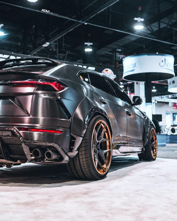 RDBLA BRUSHED BLACK 1016 INDUSTRIES WIDEBODY LAMBORGHINI URUS ADV.1 Wheels 18 V2 1016 Industries Widebody Kit am Lamborghini Urus