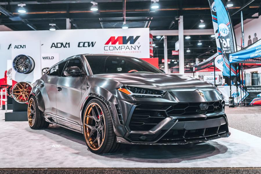 RDBLA BRUSHED BLACK 1016 INDUSTRIES WIDEBODY LAMBORGHINI URUS ADV.1 Wheels 7 V2 1016 Industries Widebody Kit am Lamborghini Urus