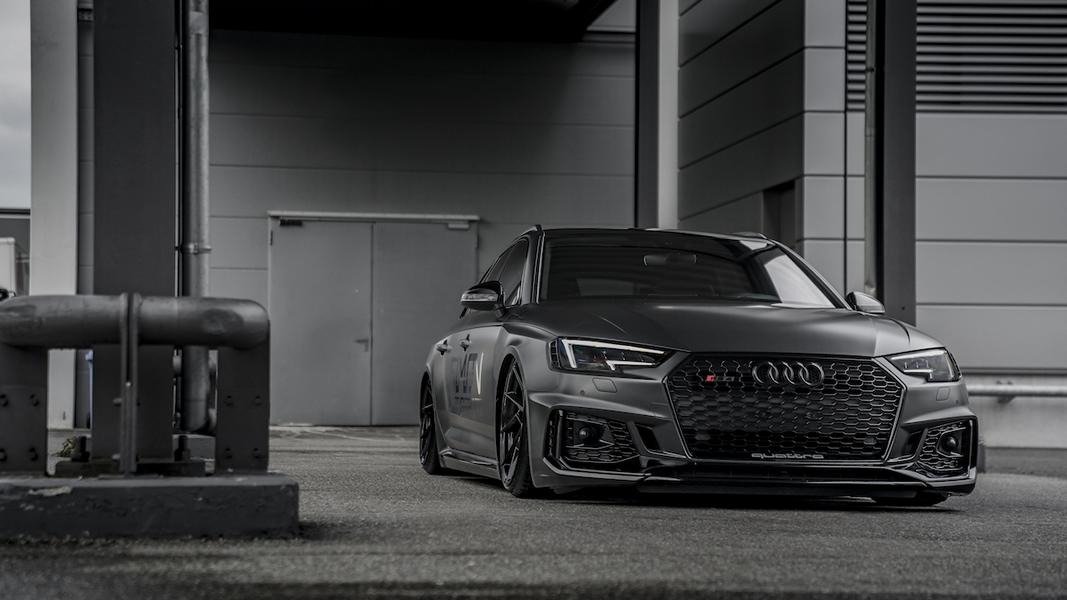 Simon Motorsport Audi RS4 B9 Z Performance Airride Tuning 1 Schwarzes 530 PS Biest   Simon Motorsport Audi RS4 B9