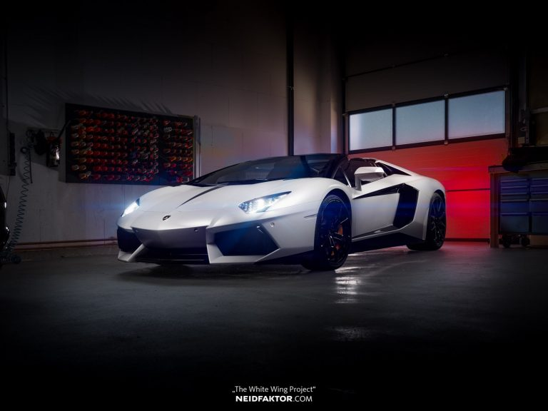 "THE WHITE WING PROJECT Lamborghini Aventador Neidfaktor Tuning 15 ""THE WHITE WING PROJECT"" Aventador by Neidfaktor"